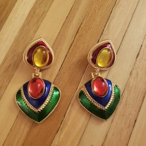 Multicolored earrings